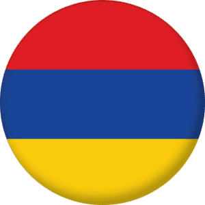 Armenia Country Flag 25mm Flat Back
