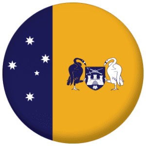 Australian Capital Territory Flag 25mm Pin Button Badge