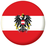 Austria Eagle Country Flag 25mm Fridge Magnet