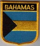 Bahamas Embroidered Flag Patch, style 07.