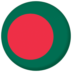 Bangladesh Country Flag 58mm Mirror Keyring