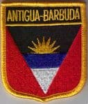 Antigua & Barbuda Embroidered Flag Patch, style 07.