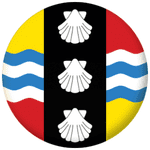 Bedfordshire County Flag 58mm Button Badge