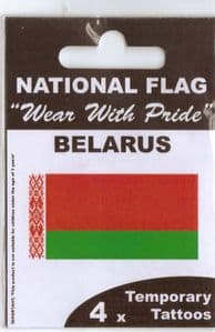 Belarus Country Flag Tattoos.
