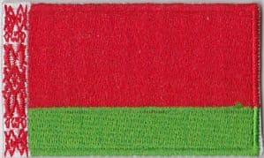 Belarus Embroidered Flag Patch, style 04