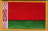 Belarus Embroidered Flag Patch, style 08.