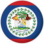 Belize Country Flag 58mm Button Badge