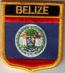 Belize Embroidered Flag Patch, style 07.