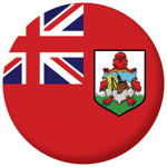 Bermuda Flag 58mm Button Badge