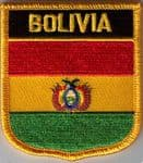 Bolivia Embroidered Flag Patch, style 07.
