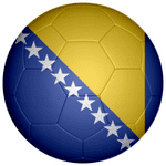 Bosnia and Herzegovina Football Flag 58mm Fridge Magnet