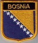 Bosnia Embroidered Flag Patch, style 07.