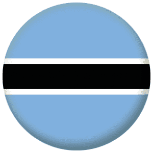 Botswana Country Flag 58mm Mirror Keyring