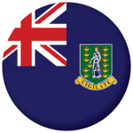 British Virgin Islands Flag 25mm Fridge Magnet