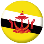 Brunei Country Flag 25mm Fridge Magnet