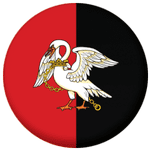 Buckinghamshire County Flag 58mm Button Badge