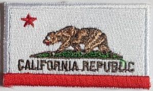California Embroidered Flag Patch, style 04