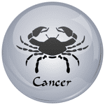 Cancer Astrology Grey 25mm Flat Back
