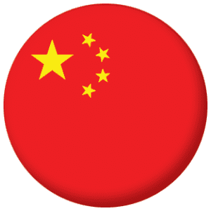 China Country Flag 58mm Button Badge