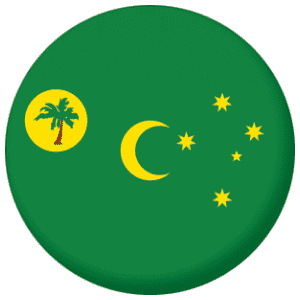 Cocos Islands Flag 25mm Pin Button Badge