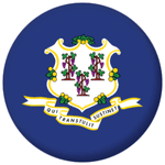 Connecticut State Flag 58mm Mirror