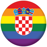 Croatia Gay Pride Flag 58mm Bottle Opener