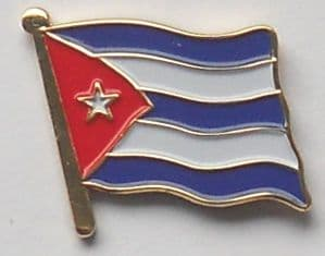 Cuba Country Flag Enamel Pin Badge