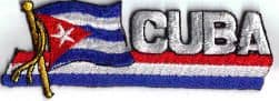 Cuba Embroidered Flag Patch, style 01.