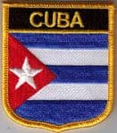 Cuba Embroidered Flag Patch, style 07.