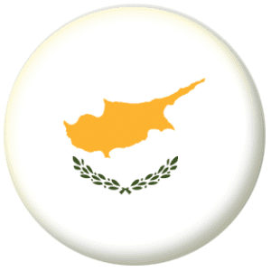 Cyprus Country Flag 25mm Flat Back