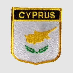 Cyprus Embroidered Flag Patch, style 07.