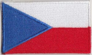 Czech Republic Embroidered Flag Patch, style 04.