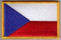 Czech Republic Embroidered Flag Patch, style 08.