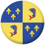 Dauphine Former Province Flag 58mm Fridge Magnet
