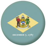 Delaware State Flag 58mm Mirror