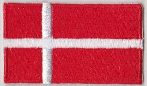 Denmark Embroidered Flag Patch, style 04.