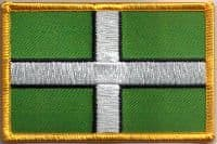 Devon Embroidered Flag Patch, style 08.