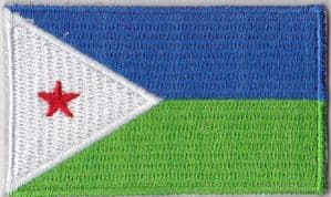 Djibouti Embroidered Flag Patch, style 04