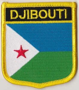 Djibouti Embroidered Flag Patch, style 07.