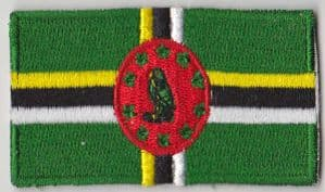 Dominica Embroidered Flag Patch, style 04.