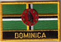 Dominica Embroidered Flag Patch, style 09.