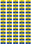 Durham Flag Stickers - 65 per sheet