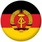 East Germany Flag 25mm Fridge Magnet