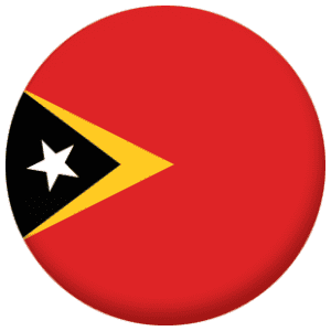 East Timor Country Flag 25mm Pin Button Badge
