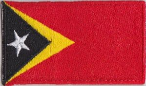 East Timor Embroidered Flag Patch, style 04