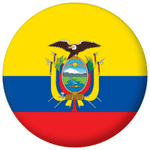 Ecuador Country Flag 58mm Mirror Keyring