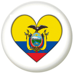 Ecuador Country Flag Heart 25mm Pin Button Badge