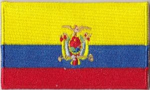 Ecuador Embroidered Flag Patch, style 04