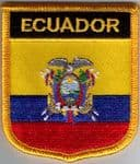 Ecuador Embroidered Flag Patch, style 07.