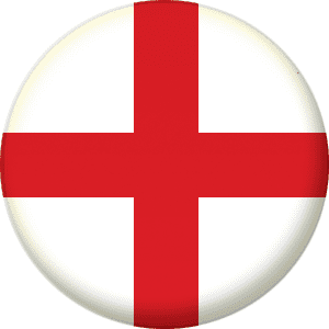 England Country Flag 25mm Flat Back